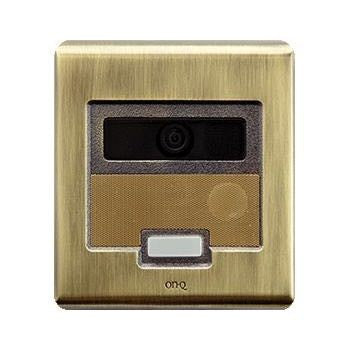 On-Q Selective Call Intercom Video Door Unit Antique Brass
