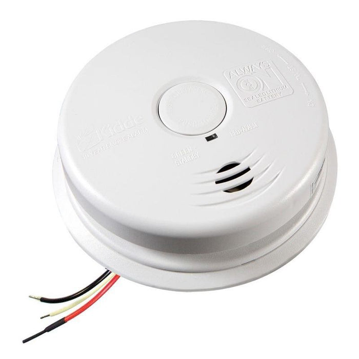 Kidde Worry-Free AC Hardwired Combination Smoke & Carbon Monoxide Alarm Sealed Lithium Battery Backup