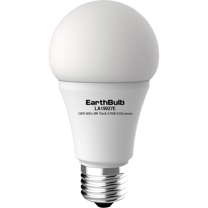 Earthtronics 9.5 Watt LED A19 - 4000K - 820 Lumens - 120V