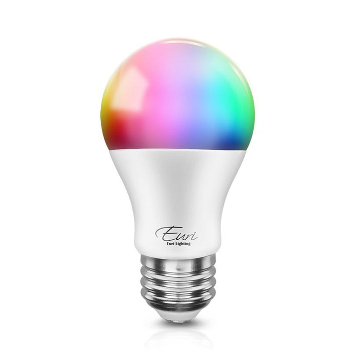 Euri 10 Watt LED Color Changeable Smart Wi-Fi A19 Bulb - 800 Lumens - 120V