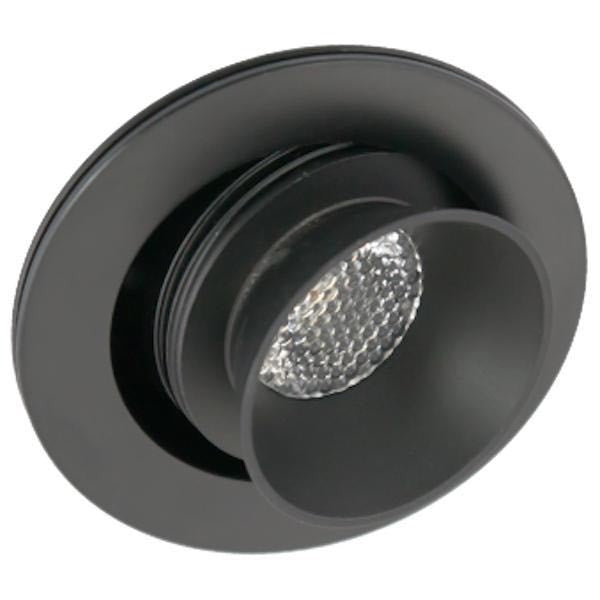 American Lighting 1.25 Watt LED Black Mini Visor Swivel Puck Light - 3000K - 68 Lumens
