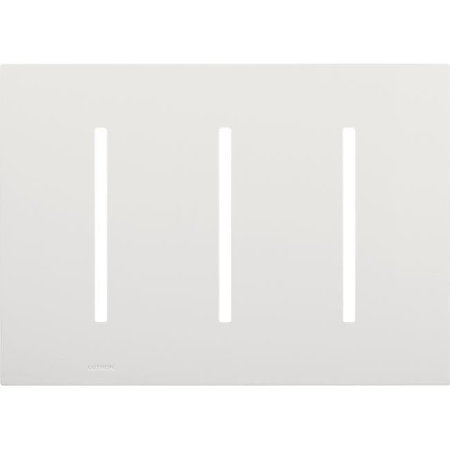 Lutron GRAFIK T Architectural Wallplate - 3-Gang - Bright Nickel