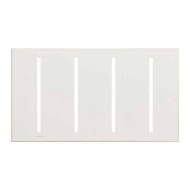 Lutron GRAFIK T Architectural Wallplate - 4-Gang - Bright Nickel