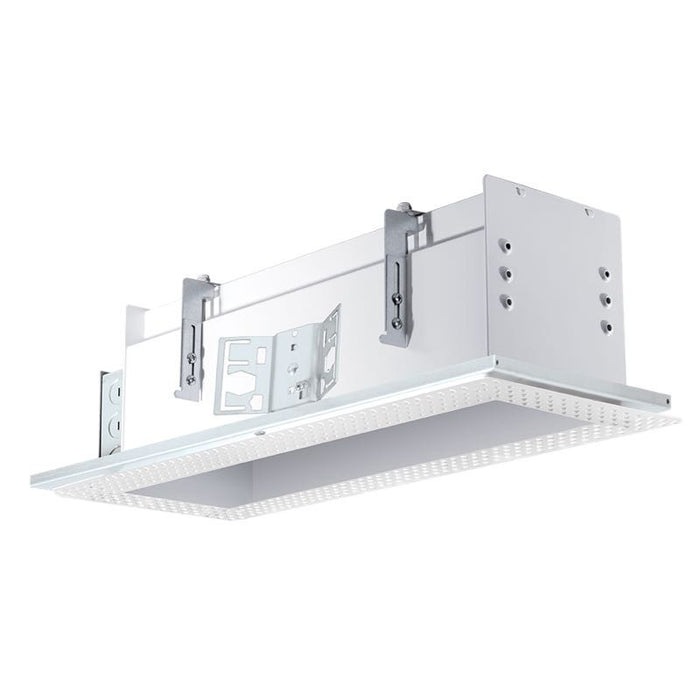 RAB 3 Fixture Multi-Head Recessed New Construction Mounting Frame and Housing - Trimless - White