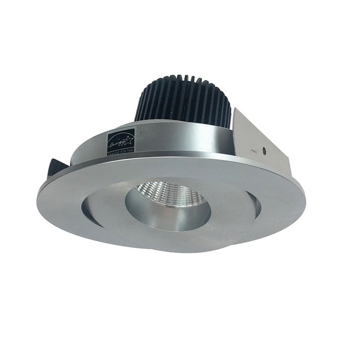 "Nora Lighting Iolite 4"" LED New Construction-Remodel Round Adjustable Surface - 3500K - Natural Metal"