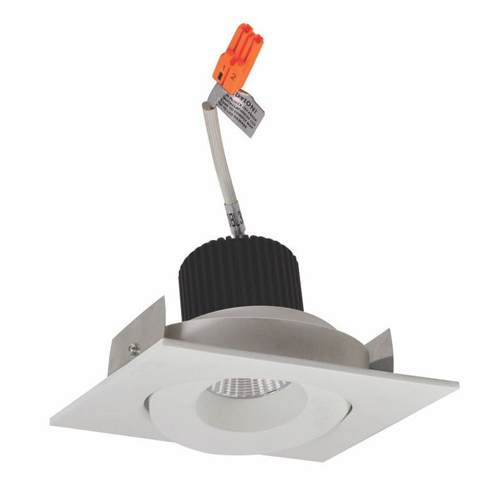 "Nora Lighting Iolite 4"" LED New Construction-Remodel Square Adjustable Surface - 4000K - 800 Lumens - White"