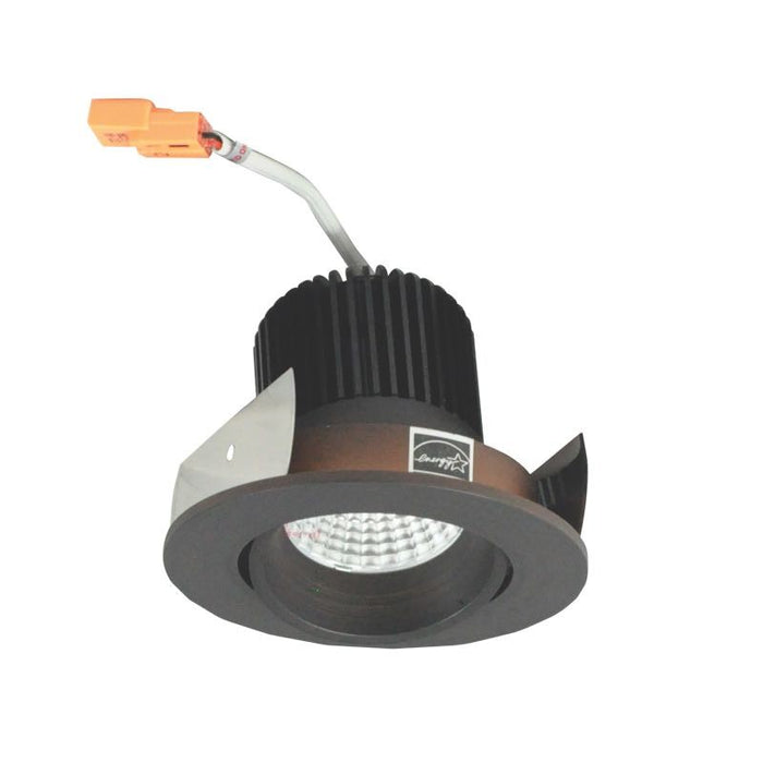 "Nora Lighting Iolite 2"" LED Regressed Round Cone Adjustable Trim - 3500K - 800 Lumens - Bronze"