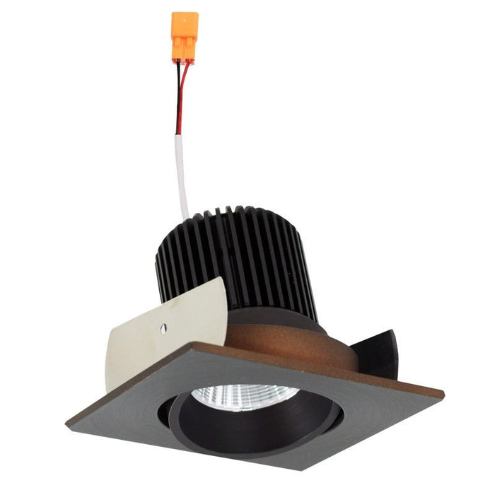 "Nora Lighting Iolite 2"" LED Regressed Square Cone Adjustable Trim - 3500K - 800 Lumens - Bronze"