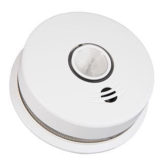 Kidde 10-Year Worry Free Battery Hardwired Smoke Alarm with Wire-Free Interconnect and Emergency Safety Light