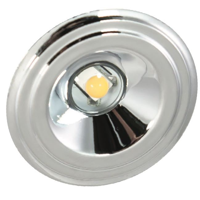 American Lighting 1.25 Watt LED Chrome Bullet Puck Light - 3000K - 67 Lumens