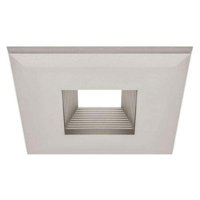 American Lighting Nickel CLIQ 4 Click-On Baffle Square Trim for EPIQ 4