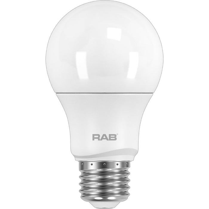 RAB 6 Watt Dimmable A19 LED Lamp - 3000K - 460 Lumens - 40W Replacement - 120V