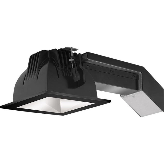 "RAB 12 Watt LED 4"" Remodeler Square Downlight - 3500K - 974 Lumens - 120-277V - Matte Silver Cone and Black Trim"