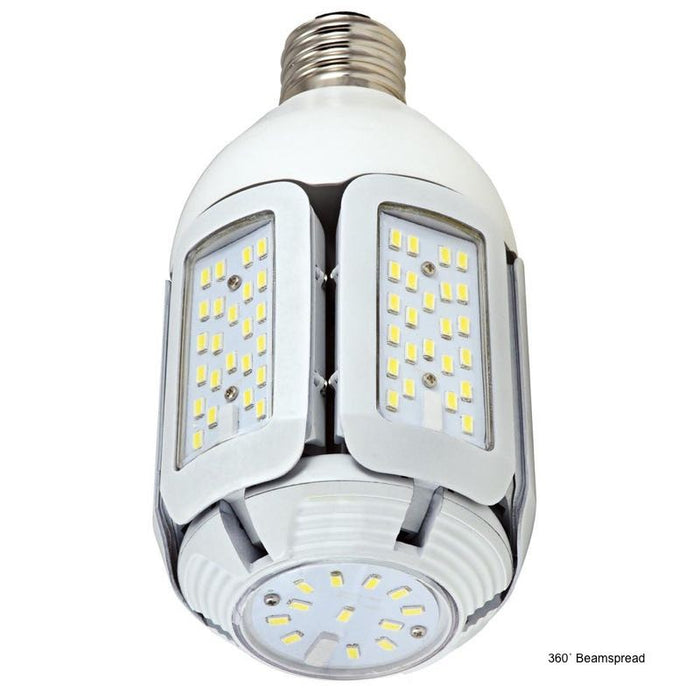 Satco 40 Watt Hi-Pro LED - Enclosed Rated - Adjustable Beam Angle - Direct Wire - EX39 Base - 2700K - 4,880 Lumens 120-277V