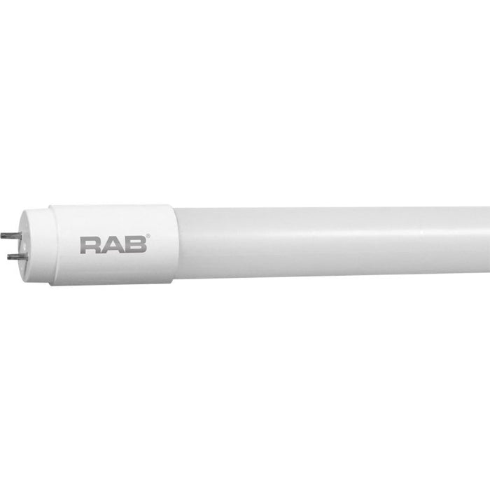 "RAB 48"" 14.5 Watt Safety Coated T8 LED - Ballast Bypass - Single End Wired - Dimmable - 3500K - 1,800 Lumens - 120V"