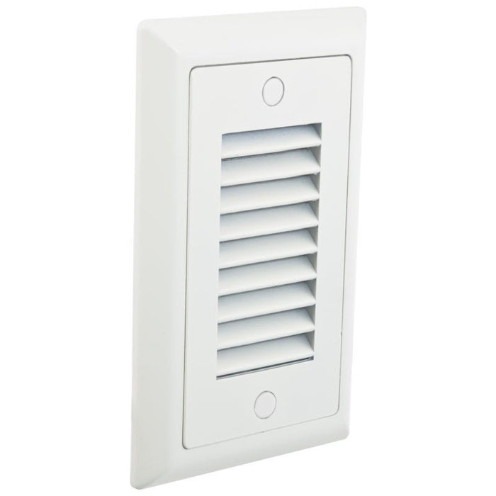 American Lighting White Vertical Louver Faceplate for LED Step Light