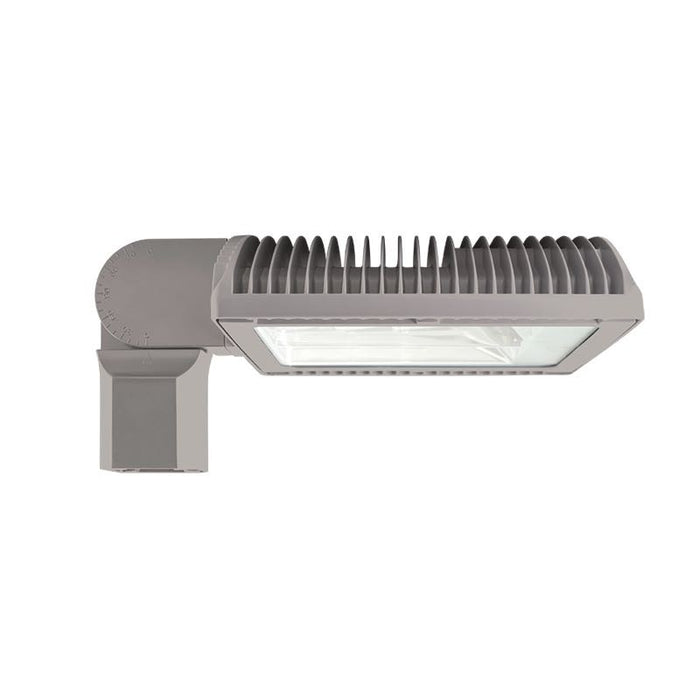 RAB 50 Watt Bi-Level LED Slipfitter Roadway Light - Type II - No Photocell - 3000K - 6,703 Lumens - 120-277V - Gray
