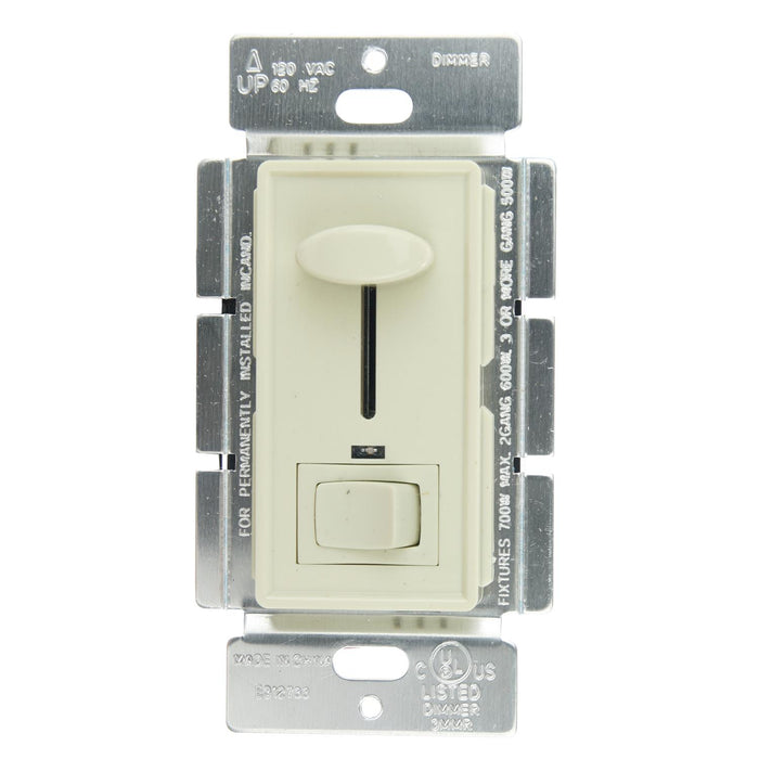 Sunlite 55150-SU E1030/I E1030/I Slide Dimmer with LED/On/Off Switch, Ivory