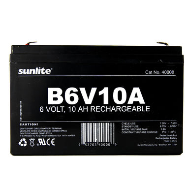 Sunlite 40000-SU B6V10A B6V10A Emergency Back-Up Battery