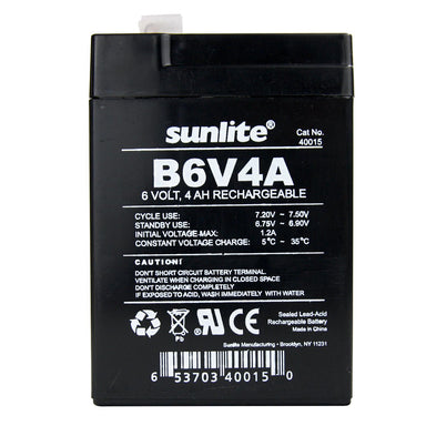 Sunlite 40015-SU B6V4A B6V4A Emergency Back-Up Battery - PACK of 10