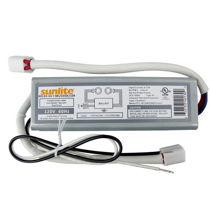 Sunlite 40130-SU SB122/32C120 SB122/132C120 FC8 & FC12 120V Electric Ballast - PACK of 20