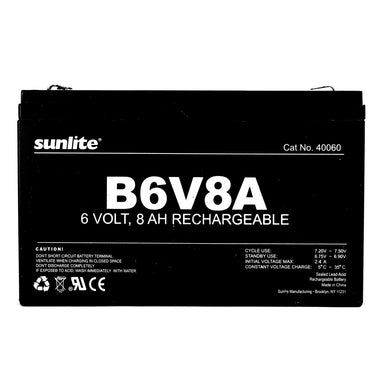 Sunlite 40060-SU B6V8A B6V8A Emergency Back-Up Battery