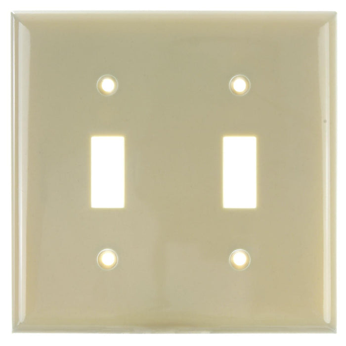 Sunlite 50512-SU E102/I E102/I 2 Gang Toggle Switch Plate, Ivory