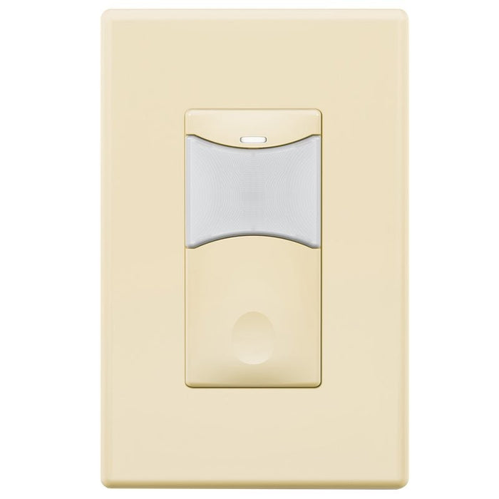 SensorWorx Wall Switch Sensor - PIR + Daylight Detection - Auto On - Stand-Alone - 12-24V - Light Almond