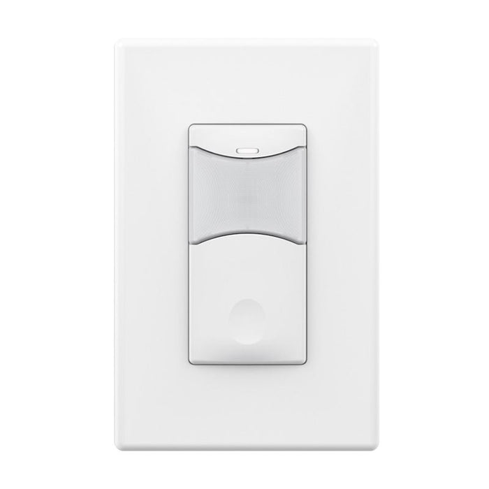 SensorWorx Wall Switch Sensor - PIR - 1-Pole - Auto On - 120-277V - White