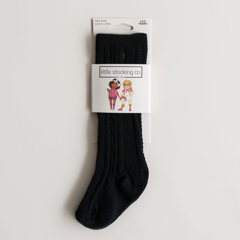 Little Stocking Co. - Black Knee High Socks
