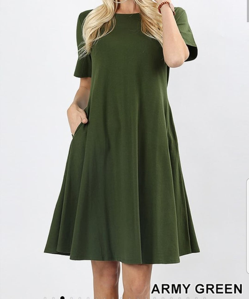 T-Shirt Dress (With Pockets)