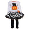 AnnLoren - Girls Halloween Knit Pumpkin & Kitten Dress Set