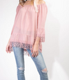 OFF-THE-SHOULDER TUNIC BLOUSE
