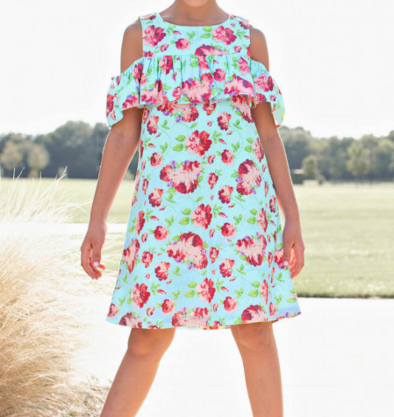 Life is Rosy Cold Shoulder Dress