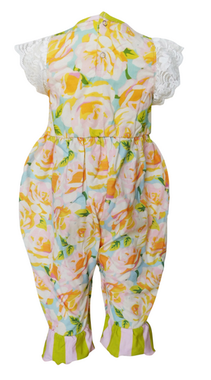 Baby Girls Shabby Chic Floral Romper