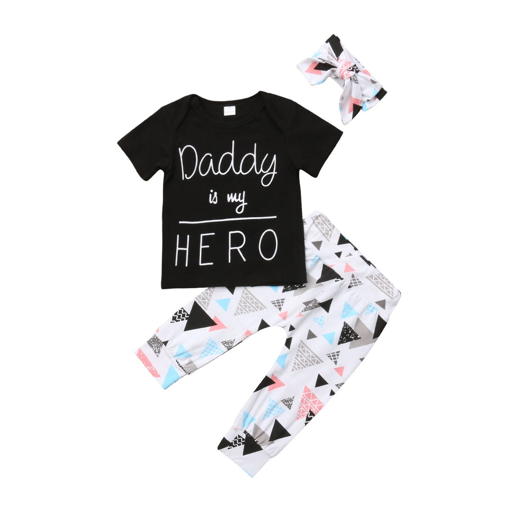 3pc Daddy is my HERO set