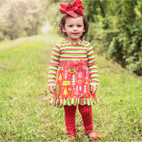 Red Christmas Dress and Leggings Holiday Outfit