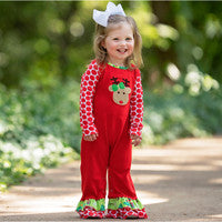 Red Reindeer Christmas Romper