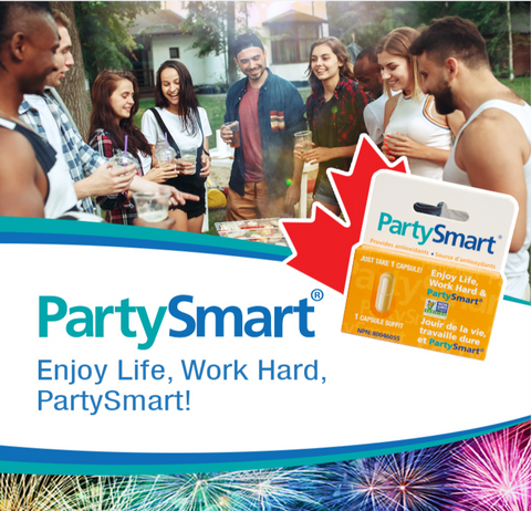 Enjoy Life with PartySmart. All natural hangover prevention.