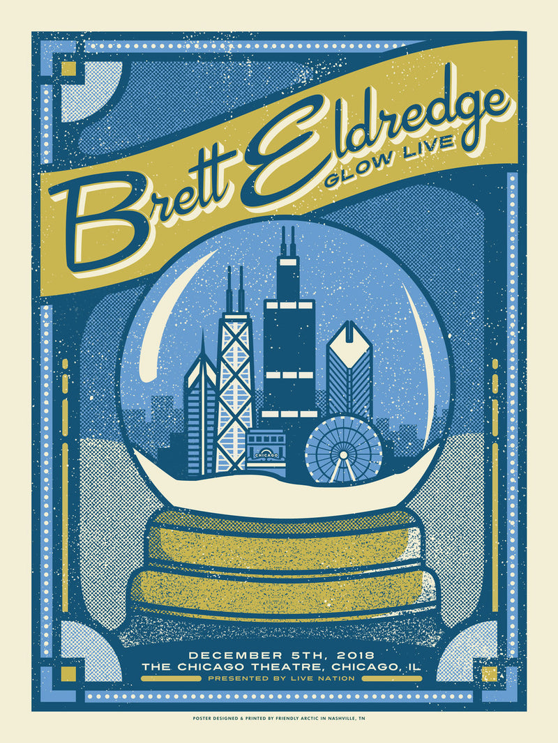 Brett Eldredge Poster - Chicago