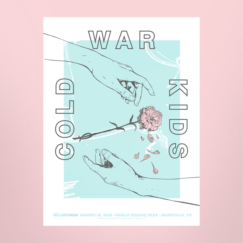 Cold War Kids 2018 Poster - Live on the Green