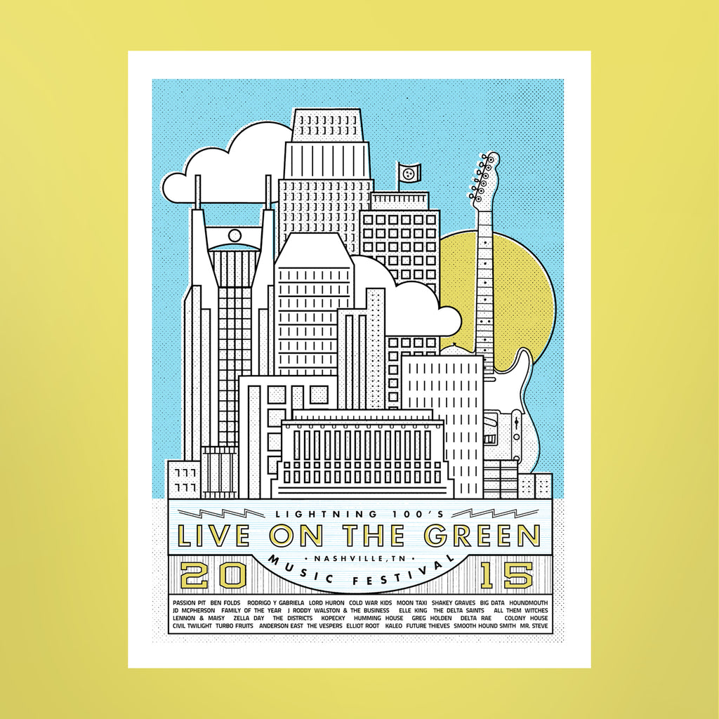 Live on the Green 2015 Lineup Poster