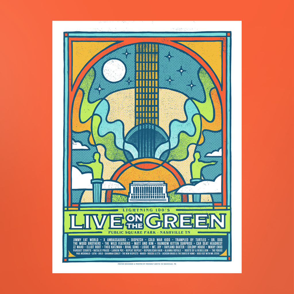 Live on the Green 2018 Lineup Poster