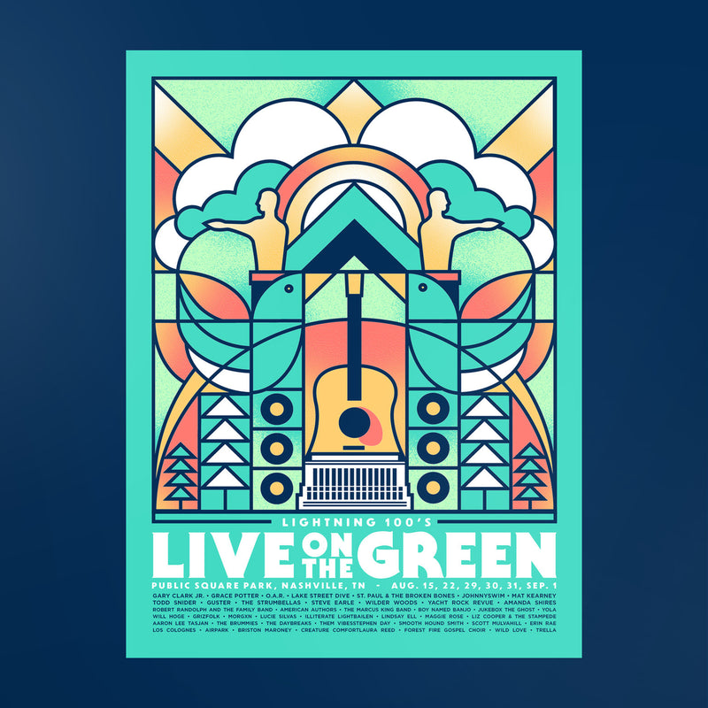Live on the Green 2019 Lineup Poster