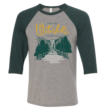 Visit the Waterfalls Baseball Tee