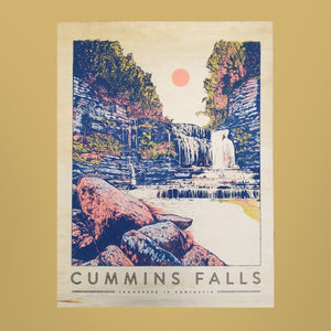 Cummins Falls Wood Print