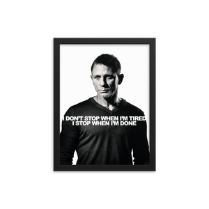 James Bond Spectre Motivational Quote - Framed photo paper poster