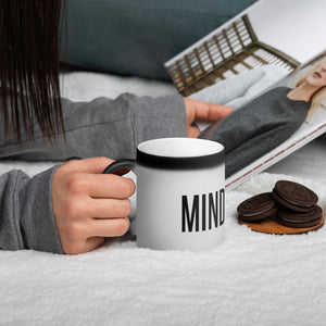 MINDSETTR Motivational Matte Black Magic Mug