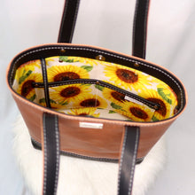 Load image into Gallery viewer, Eira V2 Tote | Horween / Sunflowers