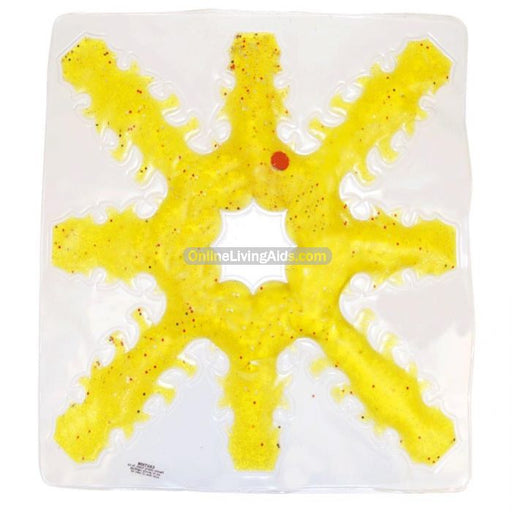 Skil-Care- Sensory Stimulation 8 Side Snowflake (Yellow) 912449Y